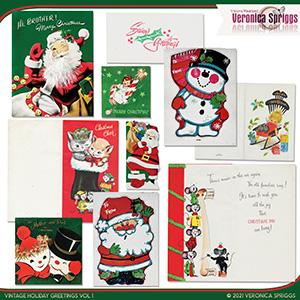 Vintage Holiday Greetings Vol 01
