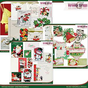 Vintage Holiday Greetings Bundle