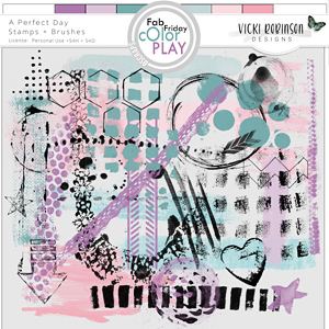 A Perfect Day Stamps + Brushes by Vicki Robinson