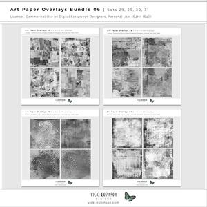 Art Paper Overlays Bundle 06 - Sets 28 29 30 31