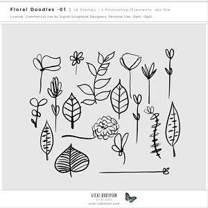 Floral Doodles Stamps 01