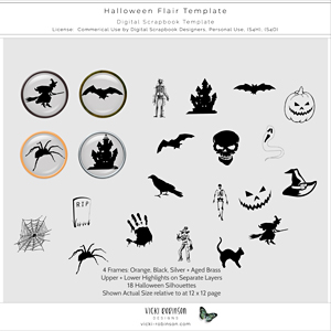 Halloween Flair Template CU