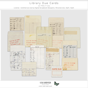 Library Due Cards