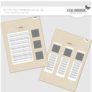My Life Story Template Set 02 A4 Size by Vicki Robinson