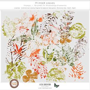 Printed Leaves Stamps