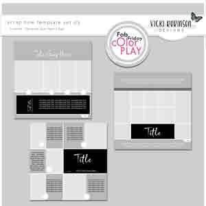 Scrap Now Template Set 03 by Vicki Robinson