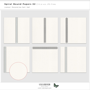 Spiral Bound Notebook Papers 02