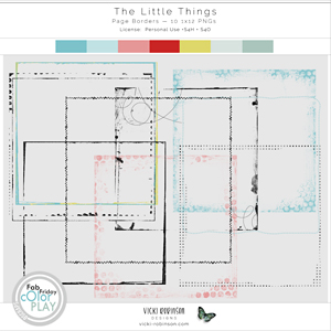 The Little Things Page Borders by Vicki Robinson