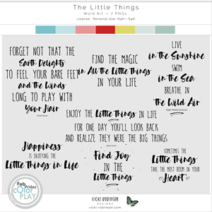 The Little Things Word Art by Vicki Robinson