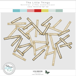 The Little Things Word Strips by Vicki Robinson