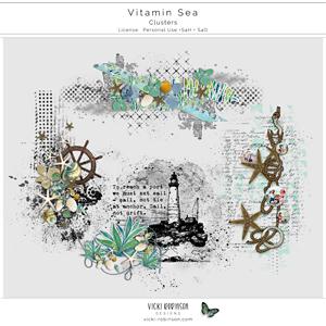 Vitamin Sea Clusters by Vicki Robinson