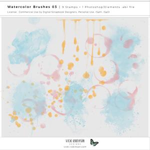 Watercolor Brushes 03