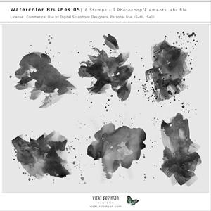 Watercolor Brushes 05