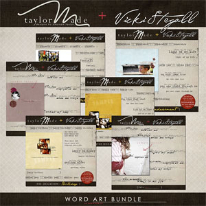 Word Art Bundle by Vicki Stegall + TaylorMade
