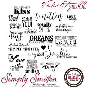 Simply Smitten (WordArt)