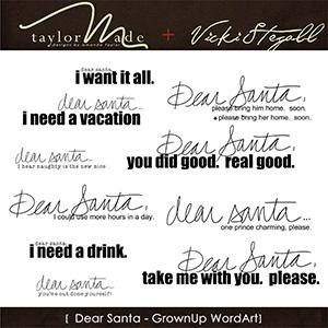 Dear Santa WordArt {Grown Up}
