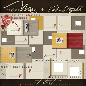 At Last Layered Template Album by Vicki Stegall + TaylorMade