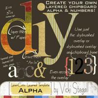 DIY Chipboard Alpha