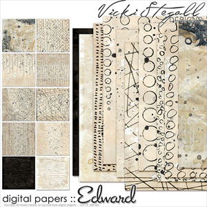 Edward - Mixed Media Papers
