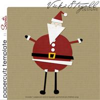 diy papercutz templates :: Santa
