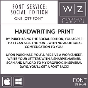 FONT CONVERSION: Handwriting Print {Social}