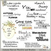 Autumn Harvest WordArt