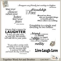 Together WordArt and Brushes