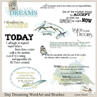 Day Dreaming WordArt and Brushes