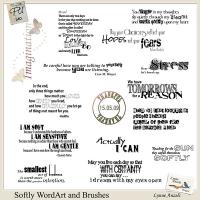 Softly WordArt and Brushes