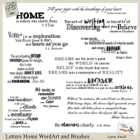 Letters Home WordArt and Brushes