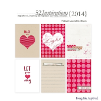 52 Inspirations :: 2014 {February Journal Cards}