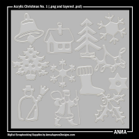 Acrylic Christmas No. 1