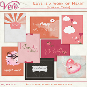 Love Is A Work of Heart Journal Cards by Vero