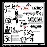 Yoga WordART No. 1