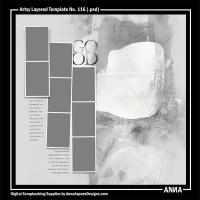 Artsy Layered Template No. 116