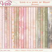 Love Is A Work of Heart Papers Pack by Vero