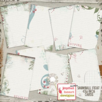 Snowball Fight (journaling cards)