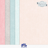 Forget Me Not Striped Papers