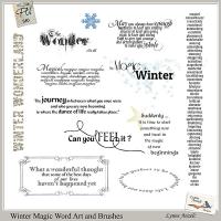 Winter Magic WordArt and Brushes
