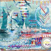 Somewhere Near the Sea Painted Elements by Lorie Davison